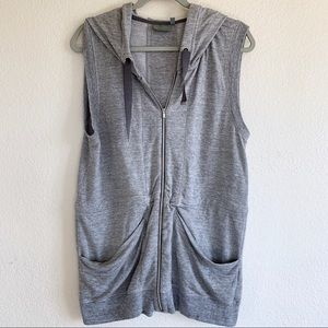 Athleta Sleeveless Hoodie Sweatshirt Tunic